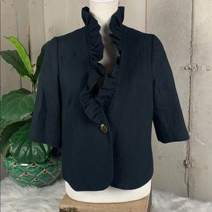 MILLY Silk Evening Jacket Size 8